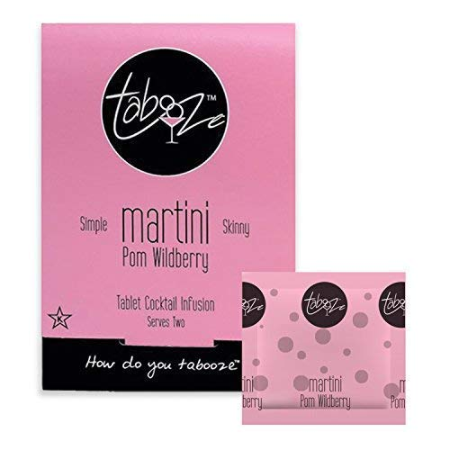Tabooze Sugar Free Cocktail & Drink Mixer Tablets (Pom Wildberry Martini, 8 Tablets)