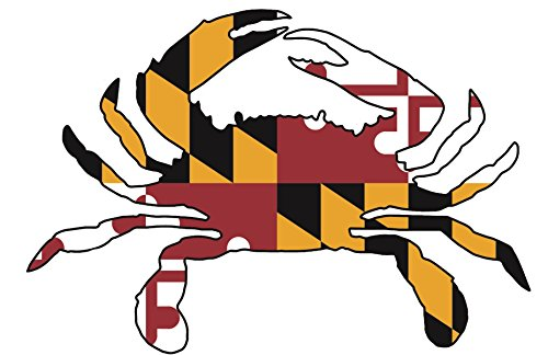 (Artisan Owl Maryland Crab State Flag Magnetic Auto Bumper Car Magnet - 4x6 All Weather Magnet (1 magnet))