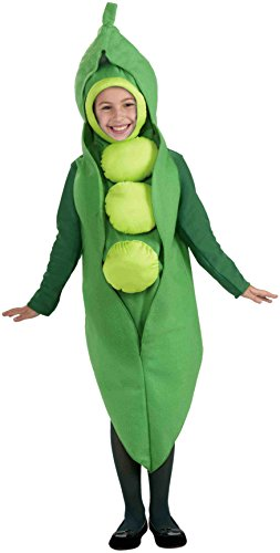 Pea Pod Halloween Costumes (Forum Novelties Fruits and Veggies Collection Peas in a Pod Child Costume, Large)