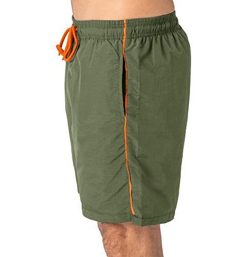 Eklentson Traspiranti Asciugatura Da Spiaggia Army Rapida Green Ad Pantaloncini Con Tasche Uomo r01nrT