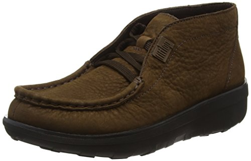 Fitflop Loaff Lace-Up, Botas Mujer Marrón - Brown (Chocolate)
