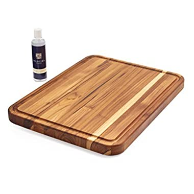 Sur La Table Madeira Teak Edge-Grain Carving Board 1039