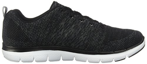 Skechers Flex Appeal 2.0-High Energy, Scarpe Sportive Donna Nero (Black/White)