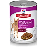 Hill's Science Diet Canned Dog Food, Adult, Savory Stew with Beef & Vegetables, 12.8 oz, 12-pack
