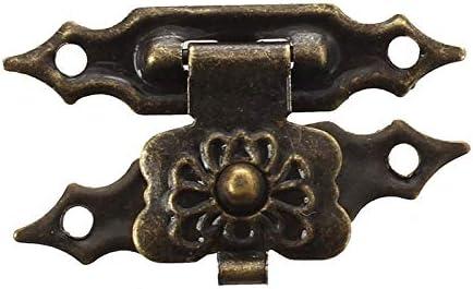 LIFANG 3cmの長さ、閉じた箱青銅を設定するラッチ木製ボックス (Color : Black)
