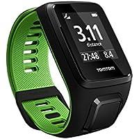 TomTom RUNNER 3 Cardio - Montre de Sport GPS - Bracelet Fin - Noir/Vert