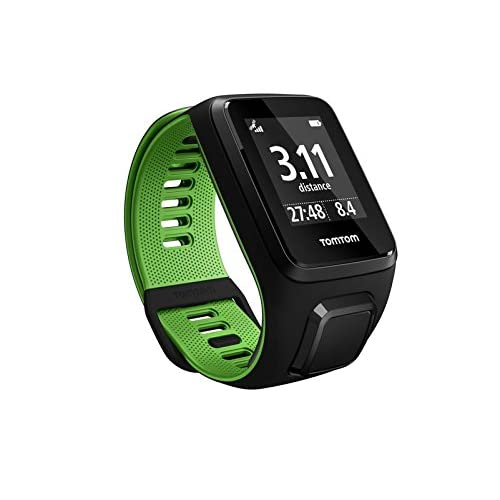 Tomtom Runner 3 Cardio - Montre de Sport GPS - Bracelet Large - Noir/Vert.