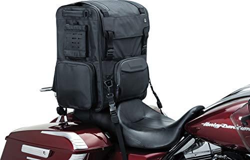 Kuryakyn 5252 XKursion XS Depot Bag: Weather Resistant Motorcycle Travel Luggage Bag with Mounting Straps, Black