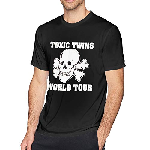 Huiliyuanshiye 80s Toxic Twins Tour O-Neck Short Sleeve T-Shirt Geek Top T-Shirts for Mens Black XL (Twins Tshirt Toxic)