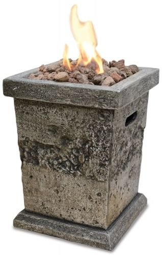 Pit Gas Brick Fire - Blue Rhino GLT17333SP LP Gas Outdoor Fire Column - Small