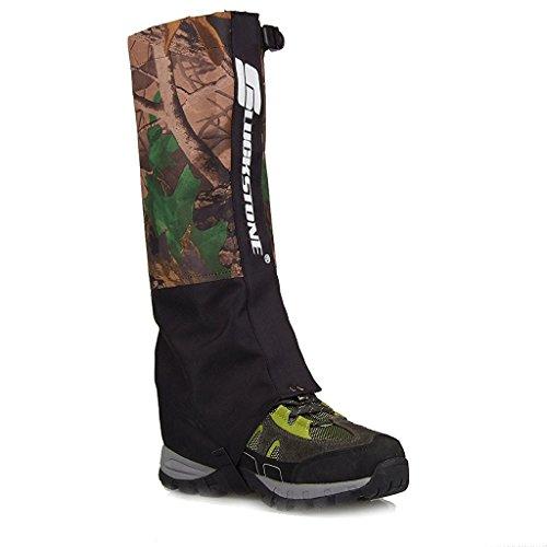 Nalmatoionme esterno doppio strato impermeabile escursionismo Walking climbing Snow Legging Gaiters (1coppia)