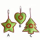 Xmas Tree Non-Woven Fabric Hanging Decor Star Heart Xmas Tree Party Ornament