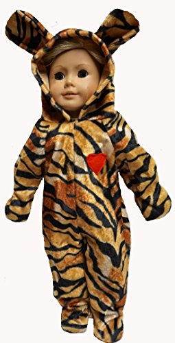 18 Inch Doll Tiger Halloween Costume Dress Up for Fun ()