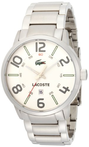 Lacoste Barcelona White Dial Stainless Steel Mens Watch 2010494