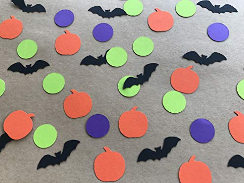 Halloween Confetti - Halloween Party Decor - Halloween Decorations - Halloween Table Scatter - Bat Decorations - Pumpkin Decorations - Fall Party Decor - 200 pieces -