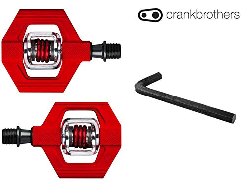 CRANKBROTHERs Crank Brothers Candy 1 Bike Pedal Bundle, 8mm Hex Included – Pick Your Color