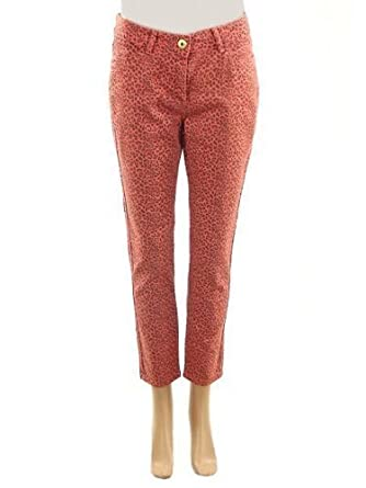 273eeb22b0298 New Ladies Animal Print Cropped Denim Cropped Jeans Capri Trousers Coral  Womens Size 18 UK  Amazon.co.uk  Clothing