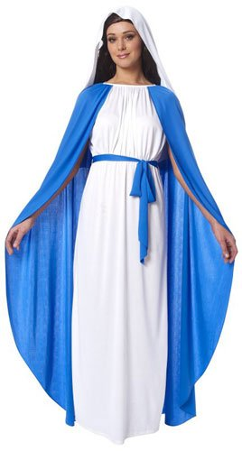 [Virgin Mary Religious Adult Costume] (Girls Virgin Mary Costume)