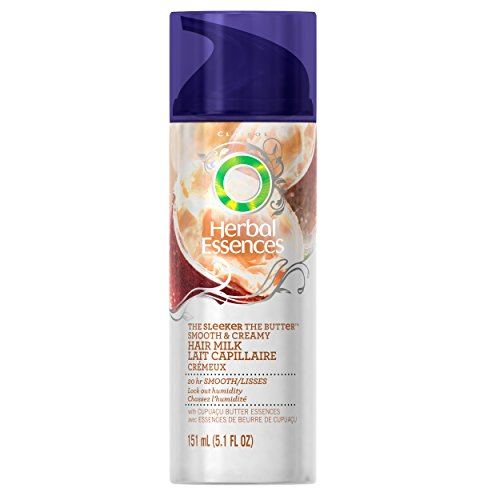 Herbal Essences The Sleeker The Butter Smooth & Creamy Hair Milk 5.1 Fl Oz, 5.100-Fluid Ounce, (Packaging may vary) (Essences Leave Conditioner In Herbal)