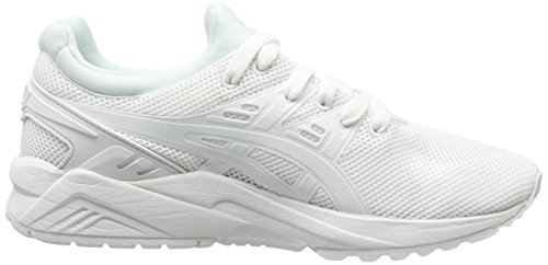 Asics Gel-Kayano Trainer Evo - Scarpe da Ginnastica Basse Unisex – Adulto, Rosa (Knockout Pink/Light Grey 2013), 44 EU Bianco (White/White 0101)