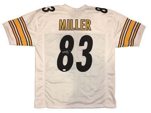 Heath Miller Autographed Jersey - White Custom - Autographed NFL Jerseys ()