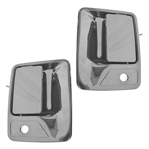 Door Excursion Chrome Handle (Chrome Outside Exterior Door Handle Front Pair Set of 2 for Ford Pickup Truck)