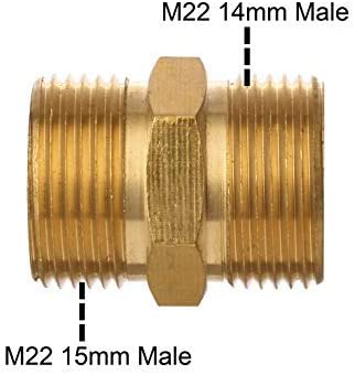 m/étrique M22 15 mm /à M22 14 mm Coupleur de Nettoyeur Haute Pression