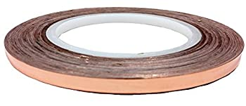 "Bertech Copper Conductive Tape, 1/4"" Wide x 36 Yards Long, 2.75 mil Thick on a 3"" Core"