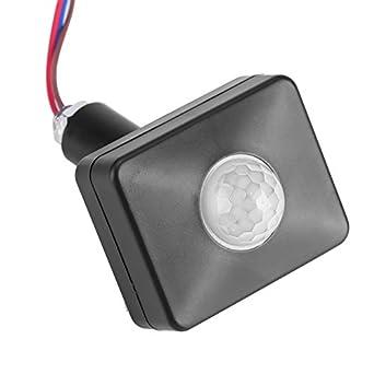 Amazon.com: FTVOGUE Mini interruptor PIR negro infrarrojos ...