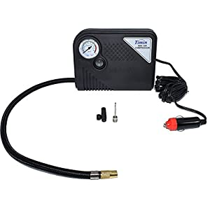 Car Tire Inflation Pump - 150PSI Portable Mini Air Compressor with Car Cigarette Lighter for Auto, Bicycle Tires and Inflatable Lounge and Camping Air Mattresses