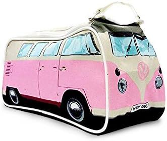 Volkswagen T1 Bus Kulturbeutel in rosa - VW Bulli Kulturtasche VW Bus Waschtasche Bulli Waschbeutel
