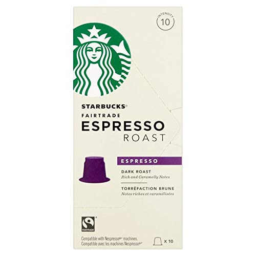 Starbucks Capsules Compatible with Nespresso Original - 40 Count (Espresso Roast)