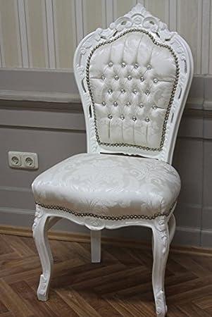 Style Housse Crème Altweiss Chaise Baroque De Blanc Couleur FJK13Tlc