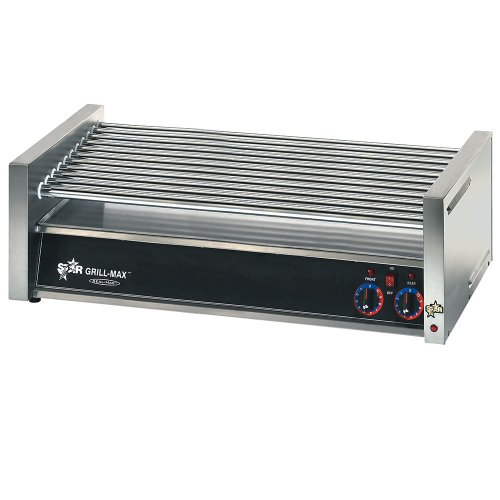 Star Manufacturing 50CF Grill-Max Flat Hot Dog Grill w/Chrome-Plated Rollers