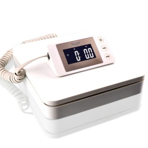 SAGA 100 LB X 0.1 oz DIGITAL POSTAL SCALE for SHIPPING WEIGHT POSTAGE W/AC 45 KG (0.1 Ounce Case)