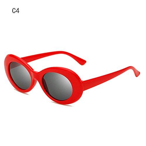 Anteojos Men's Mujer Retro Forma Sol C4 Gafas de de ZHANGYUSEN Moda de Ovalada Sol Designer Sra Nueva la 2018 C3 Gafas tqAzUwxAg4
