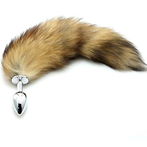 Soft Wild Fox Tail Plug G-Spot Stimulate Stainless Steel Anal Plug Sex Product Fetish Anal Butt Toys for Woman by Dreamflower