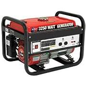 All Power America Portable Generator, 3250w, 6.5 Hp, 120v, 12v Output