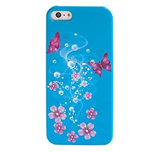 Caso de la mariposa sueño coloreado dibujo del patrón duro para iphone5/5s (colores surtidos)