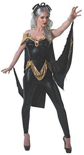 Secret Wishes Women's Marvel Universe Secret Wishes Storm Costume Cat Suit and Mask, Multicolor, X-Small -