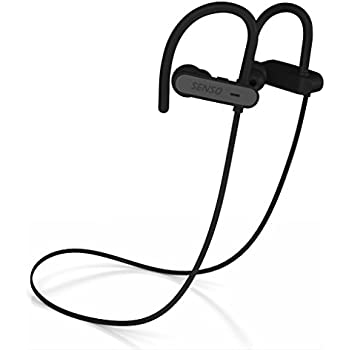 Senso ActivBuds Bluetooth Wireless Headphones, Durable IPX7 Waterproof Sports Earphones w/ Mic, HD Sound w/ Accurate Bass, Secure Comfort Fit Earbuds for Running, Noise Cancelling Sweatproof Headsets