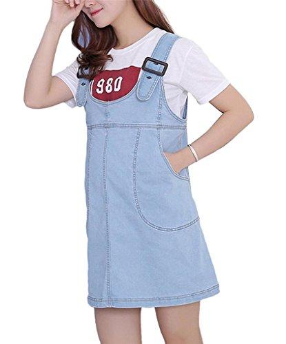 Klorim - Vestido - para mujer azul claro