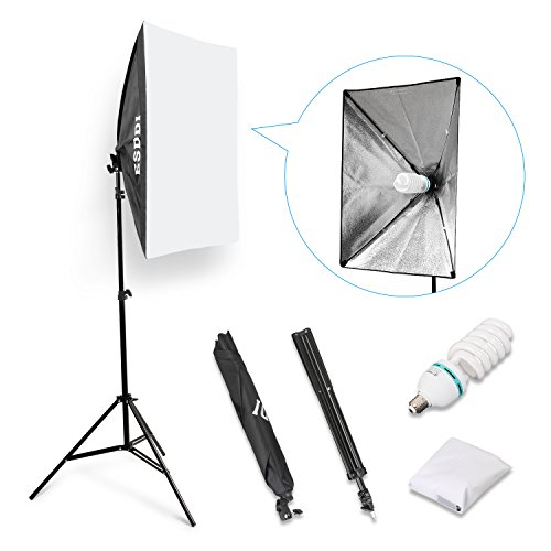 "ESDDI 800W Photography Softbox Light Lighting Kit Photo Equipment Soft Studio Light Softbox 20""X28"""