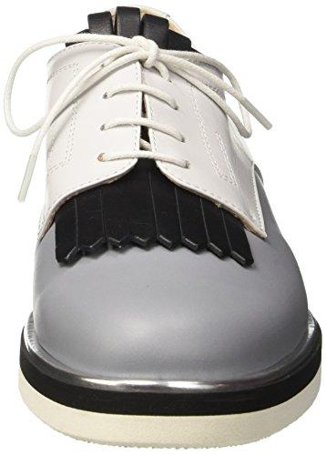 Pollini 865, Scarpe Stringate Donna Multicolore (Stone Calf-black Calf-white Calf Silver-black-white Sole)