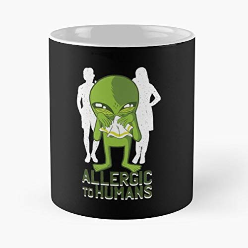 Allergic Humans Alien Background - 11 Oz Coffee Mugs Ceramic,the Best Gift For Holidays.]()