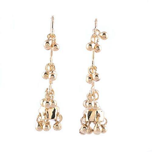 NOVICA 22k Gold Plated Vermeil Chandelier Earrings, Music' ()