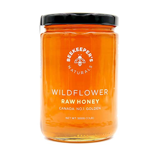 Wildflower Raw Honey by Beekeeper's Naturals | 500g of 100% Pure Sustainably Sourced Enzymatic Honey | Gluten Free and Paleo Friendly