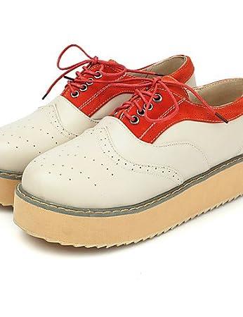 lvyuan-njx 2016 de zapatos de mujer plataforma Comfort Punta Redonda  Oxfords Exterior Oficina   carrera vestido Casual fd818c2d2d9f