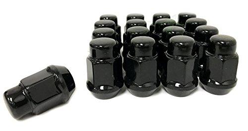 16 EZ-GO CLUB CAR GOLF CART BLACK LUG NUTS | 1/2X20 CLOSED END FOR GOLF CARTS (Best Lug Nut Brand)
