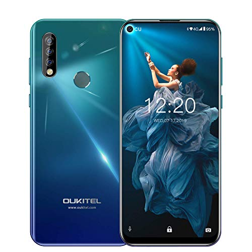 【6.35 Inch Punch-Hole Screen】 Unlocked Cell Phones OUKITEL C17 PRO Dual SIM 4G Smartphone Android 9.0 4GB RAM 64GB ROM…